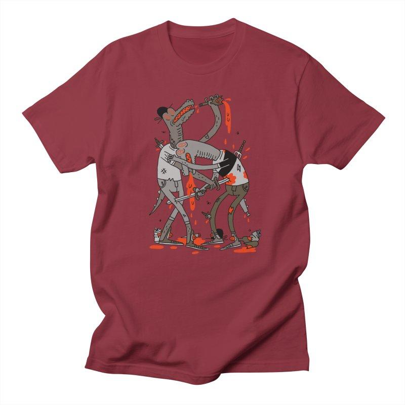 Drunk N Dinosaurderly Men's Regular T-Shirt by Burrito Goblin