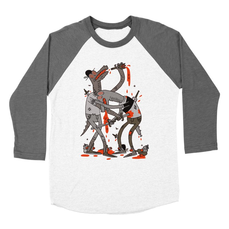 Drunk N Dinosaurderly Men's Baseball Triblend T-Shirt by Burrito Goblin