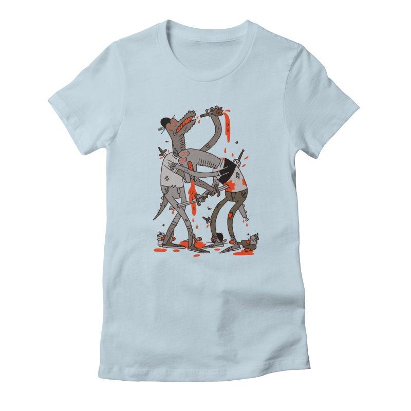 Drunk N Dinosaurderly Women's T-Shirt by Burrito Goblin