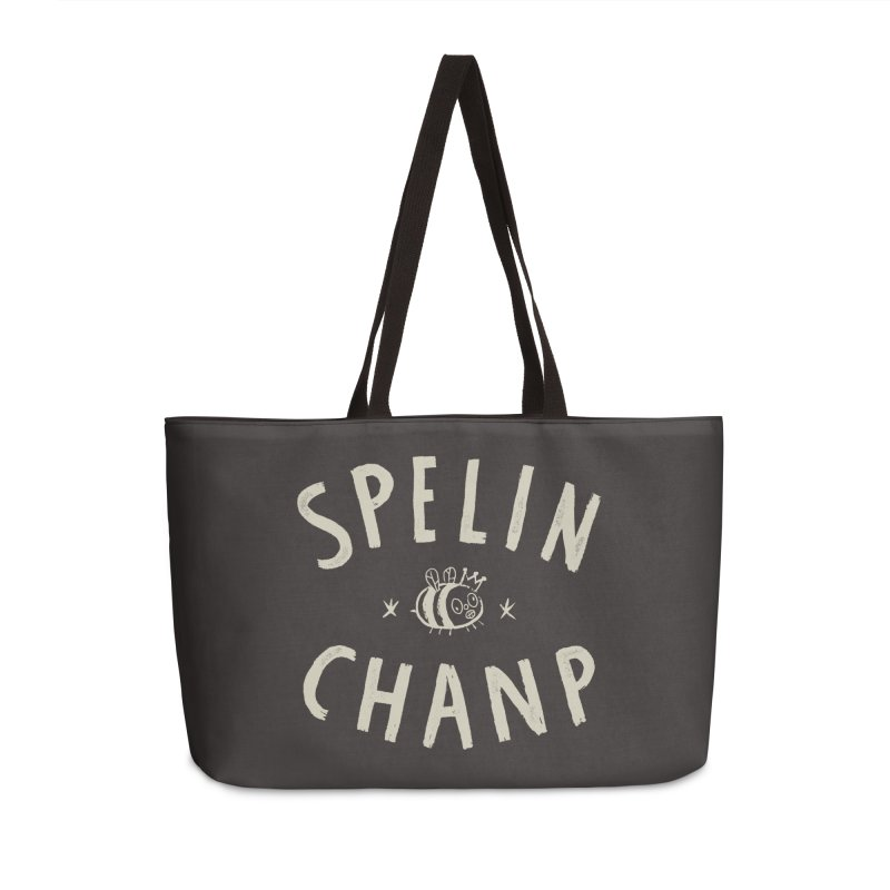 Spelin Chanp Accessories Weekender Bag Bag by Burrito Goblin