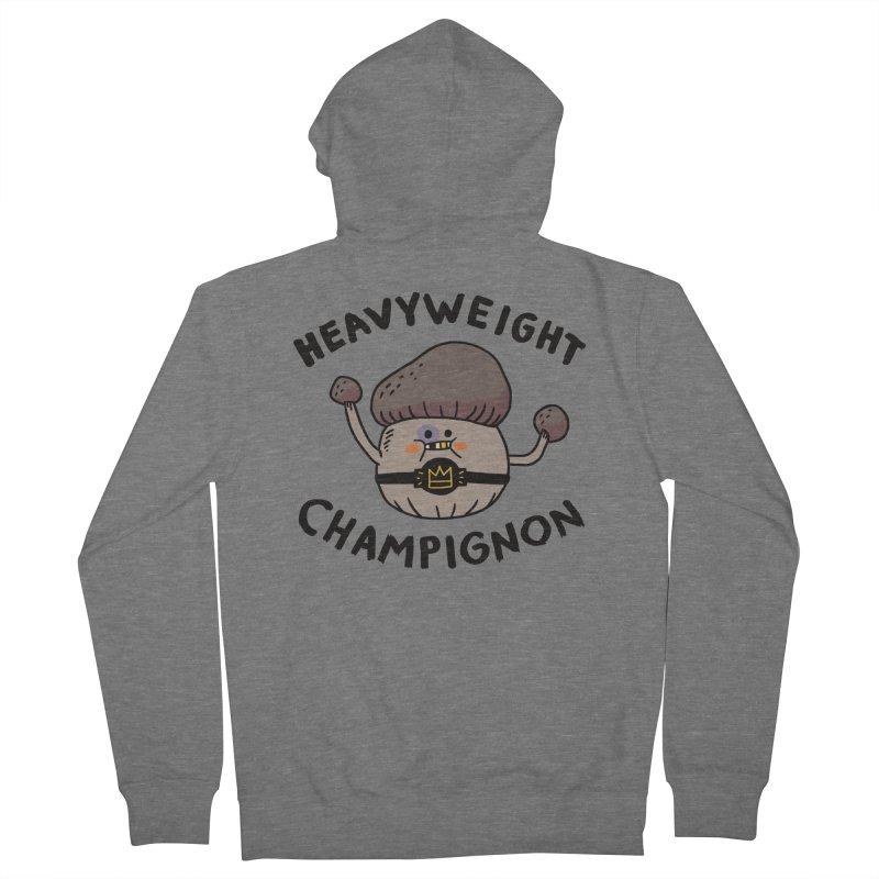 Heavyweight Champignon Men's French Terry Zip-Up Hoody by Burrito Goblin