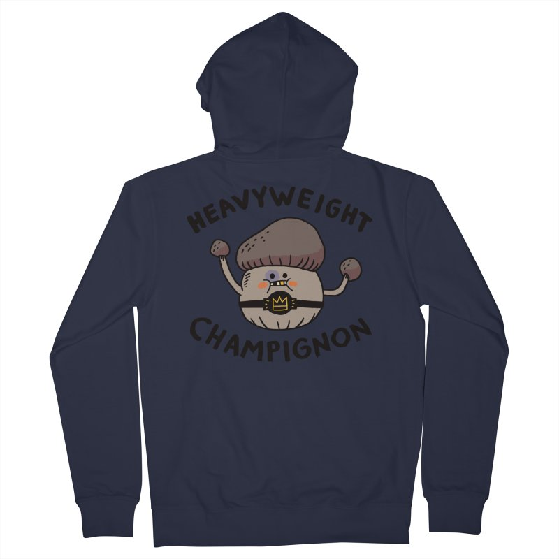 Heavyweight Champignon Men's French Terry Zip-Up Hoody by Burrito Goblin