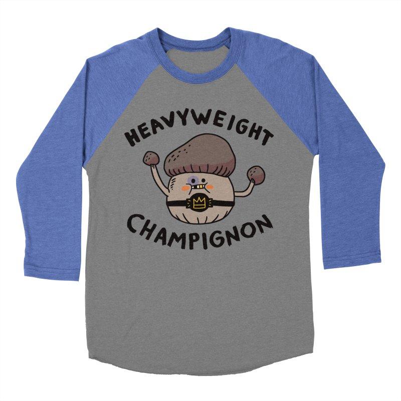 Heavyweight Champignon Women's Baseball Triblend T-Shirt by Burrito Goblin