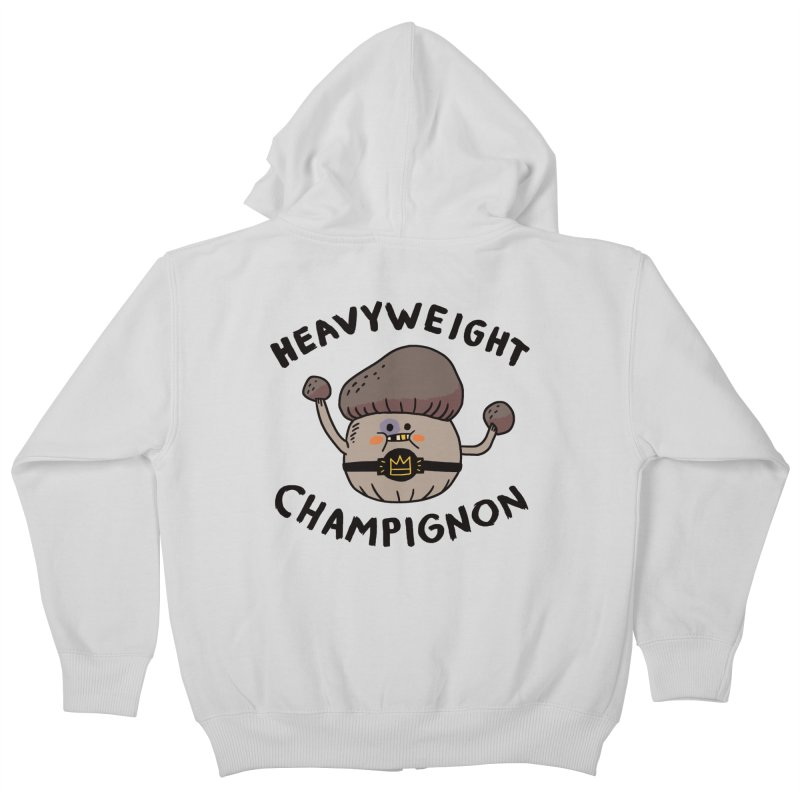 Heavyweight Champignon Kids Zip-Up Hoody by Burrito Goblin