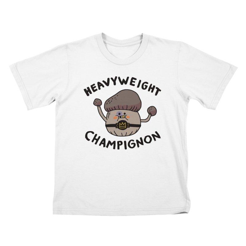 Heavyweight Champignon Kids T-Shirt by Burrito Goblin