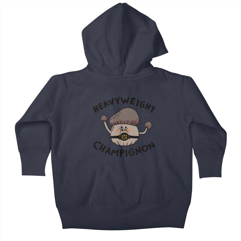 Heavyweight Champignon Kids Baby Zip-Up Hoody by Burrito Goblin