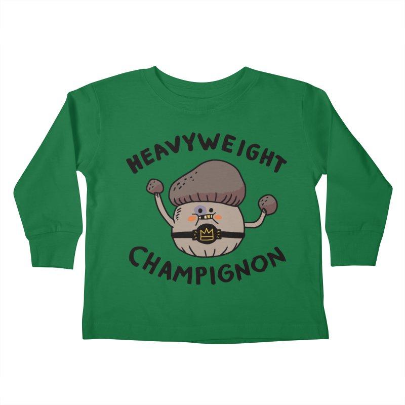 Heavyweight Champignon Kids Toddler Longsleeve T-Shirt by Burrito Goblin