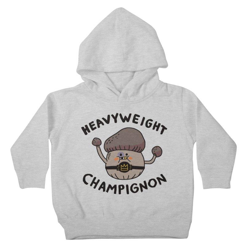 Heavyweight Champignon Kids Toddler Pullover Hoody by Burrito Goblin
