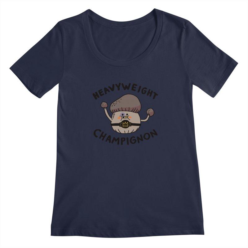 Heavyweight Champignon Women's Scoopneck by Burrito Goblin
