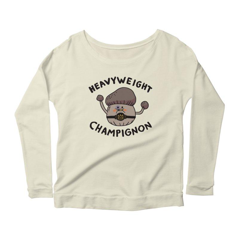 Heavyweight Champignon Women's Scoop Neck Longsleeve T-Shirt by Burrito Goblin