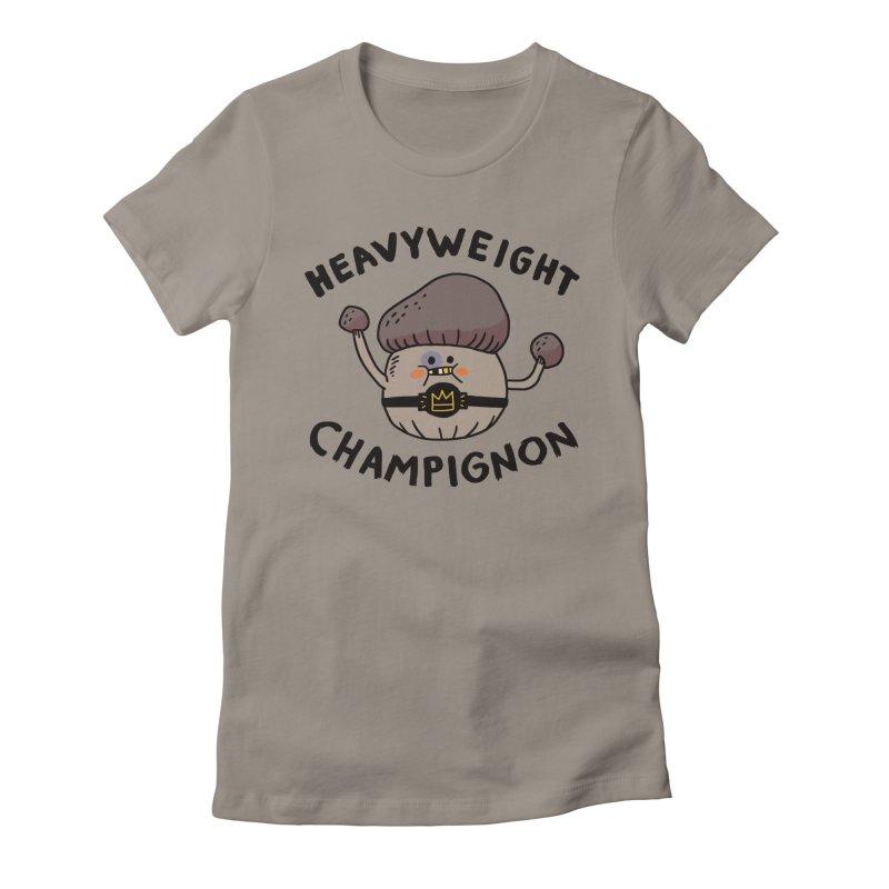 Heavyweight Champignon Women's Fitted T-Shirt by Burrito Goblin