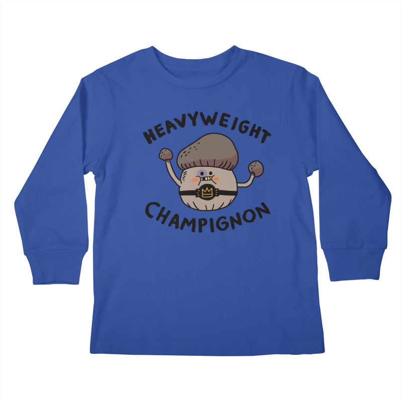 Heavyweight Champignon Kids Longsleeve T-Shirt by Burrito Goblin