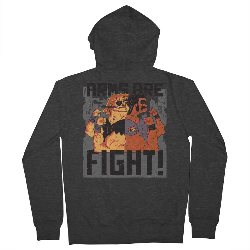 Arms are Fight! Women's French Terry Zip-Up Hoody by Burrito Goblin