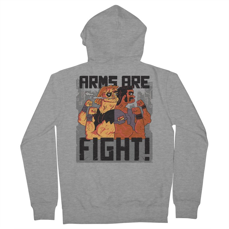 Arms are Fight! Women's Zip-Up Hoody by Burrito Goblin