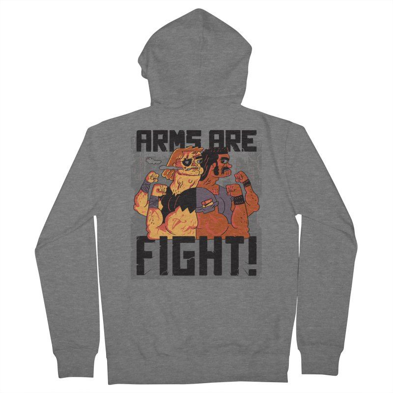 Arms are Fight! Men's French Terry Zip-Up Hoody by Burrito Goblin