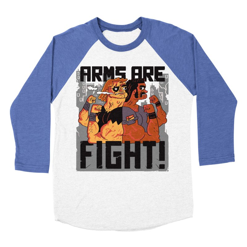 Arms are Fight! Women's Baseball Triblend Longsleeve T-Shirt by Burrito Goblin