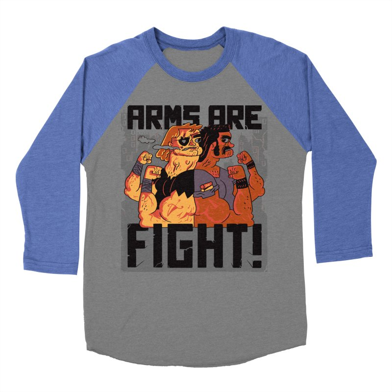 Arms are Fight! Women's Baseball Triblend T-Shirt by Burrito Goblin