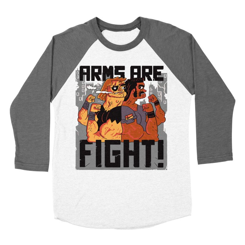 Arms are Fight! Men's Baseball Triblend Longsleeve T-Shirt by Burrito Goblin