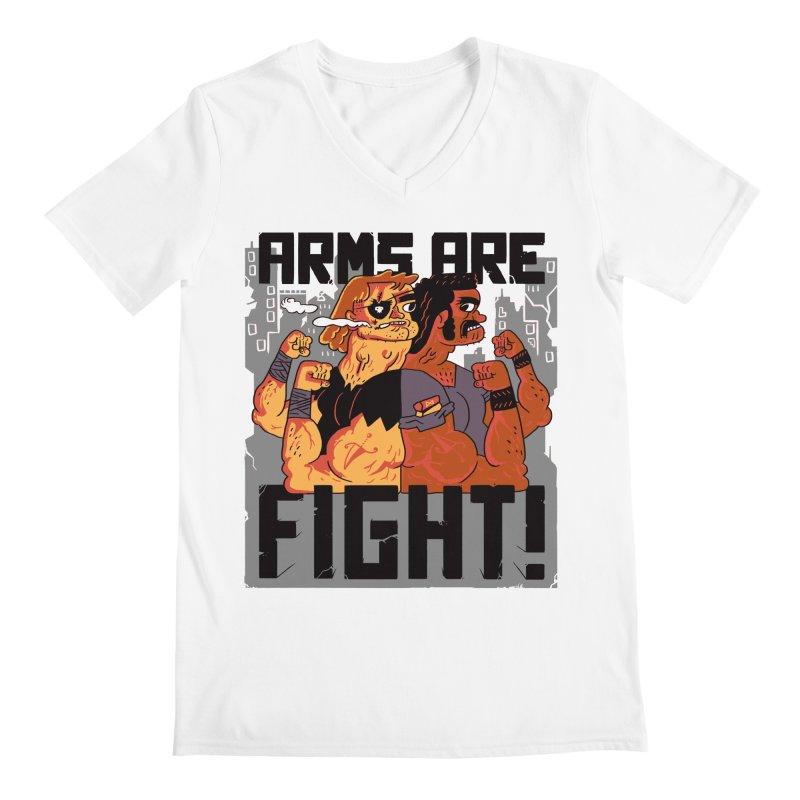Arms are Fight! Men's V-Neck by Burrito Goblin