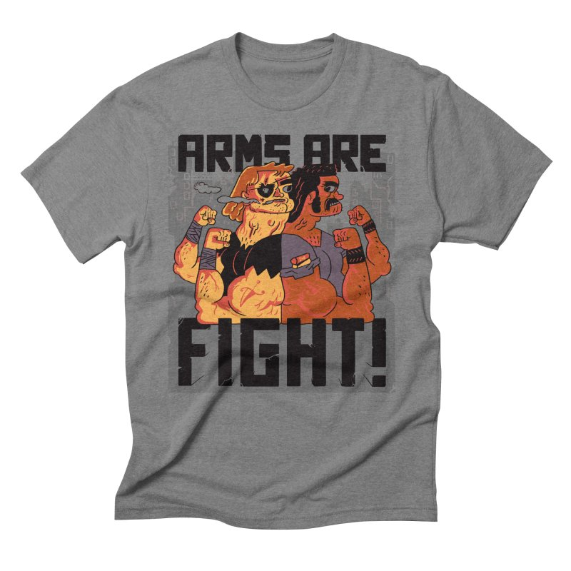 Arms are Fight! in Men's Triblend T-shirt Grey Triblend by Burrito Goblin
