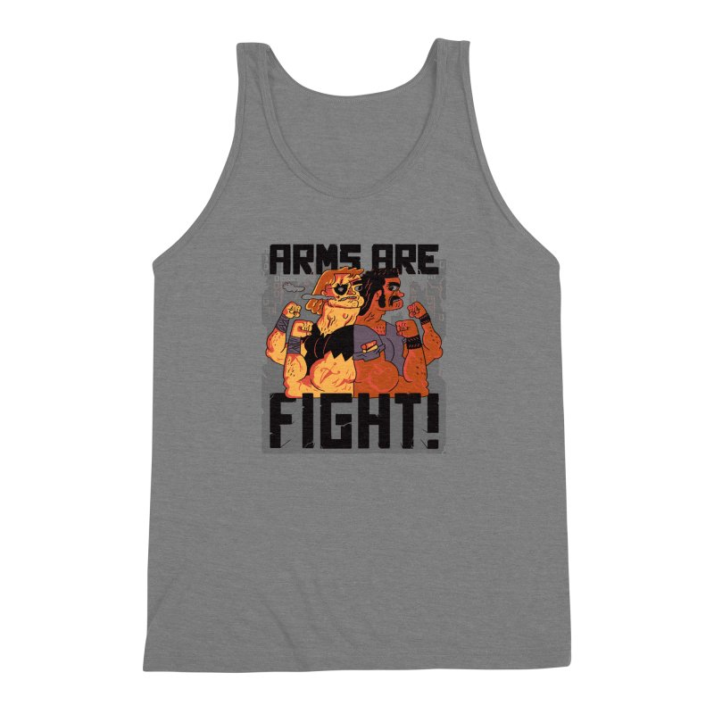 Arms are Fight! Men's Triblend Tank by Burrito Goblin