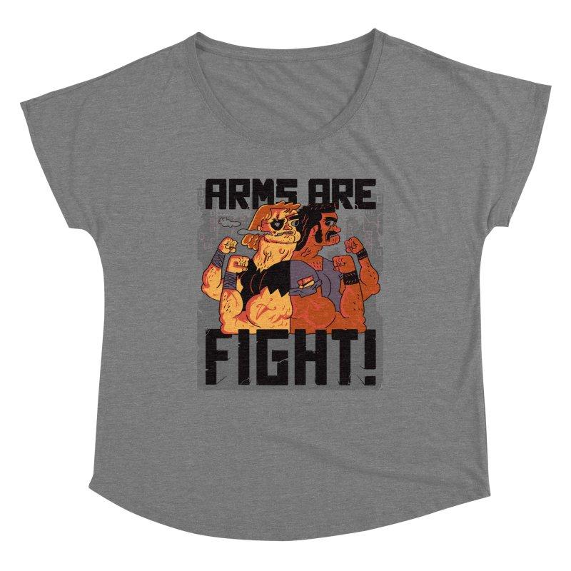 Arms are Fight! Women's Scoop Neck by Burrito Goblin