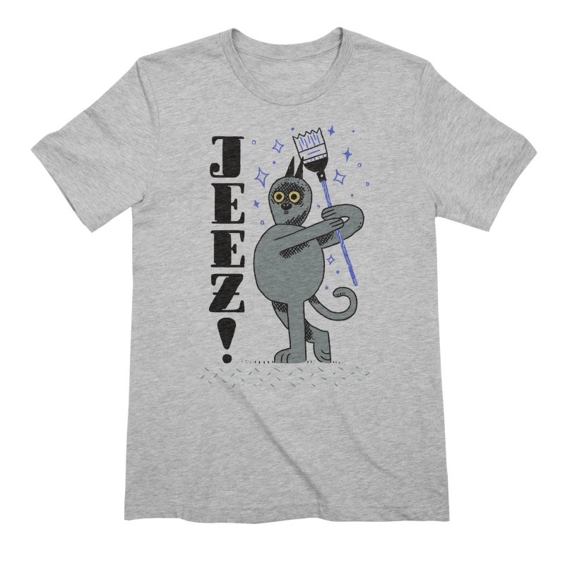 Jeez Men's Extra Soft T-Shirt by Burrito Goblin
