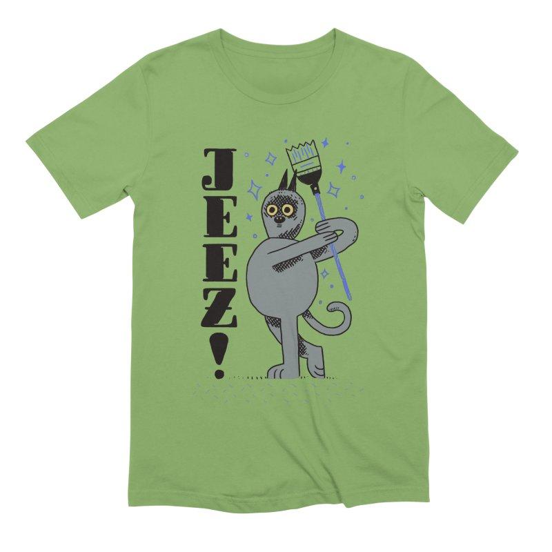 Jeez Men's Extra Soft T-Shirt by Burrito Goblin