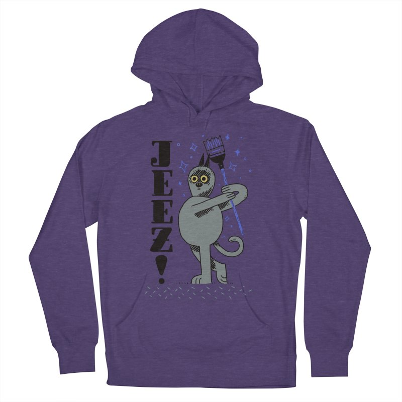 Jeez Men's French Terry Pullover Hoody by Burrito Goblin