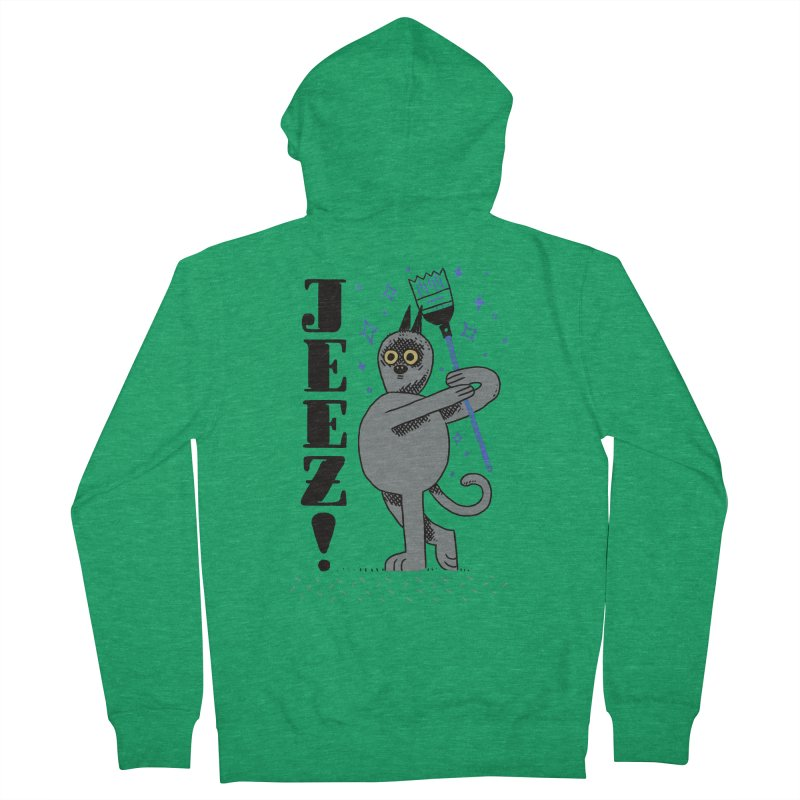 Jeez Women's French Terry Zip-Up Hoody by Burrito Goblin
