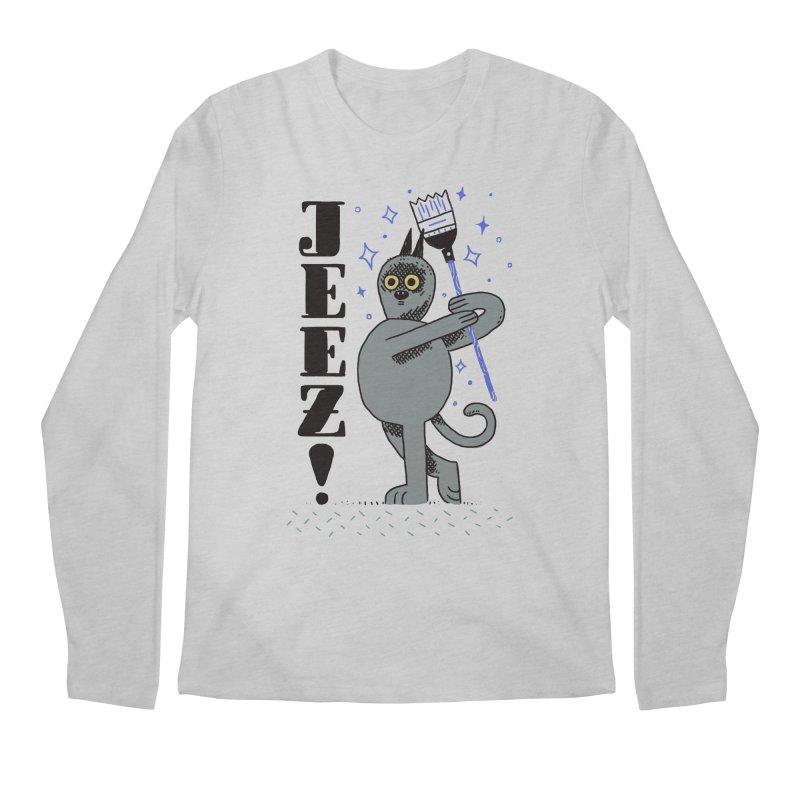 Jeez Men's Regular Longsleeve T-Shirt by Burrito Goblin