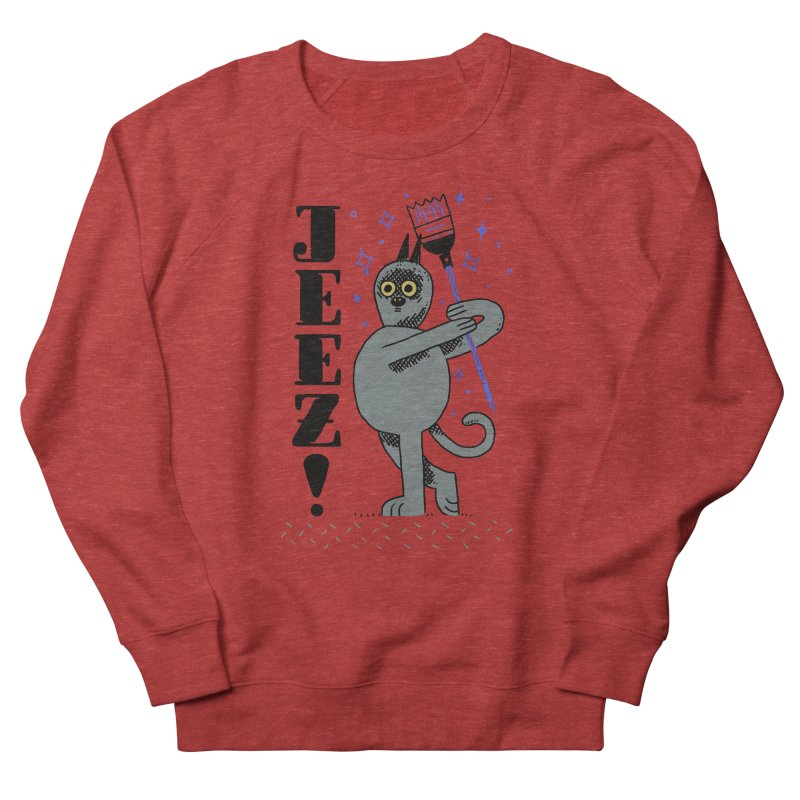 Jeez Women's French Terry Sweatshirt by Burrito Goblin