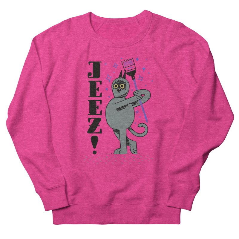 Jeez Men's French Terry Sweatshirt by Burrito Goblin