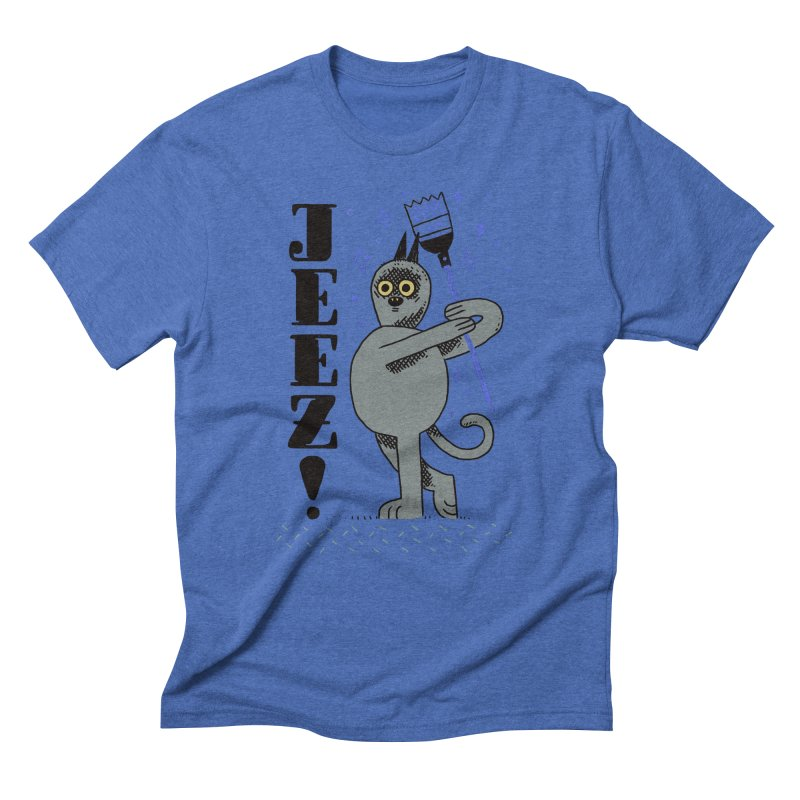 Jeez Men's Triblend T-Shirt by Burrito Goblin