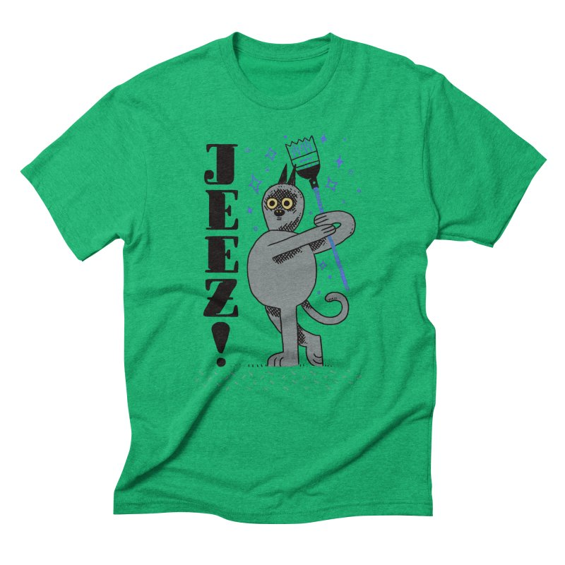 Jeez Men's Triblend T-Shirt by Burrito Goblin