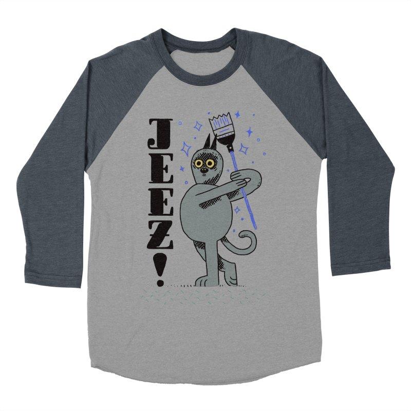 Jeez Women's Baseball Triblend T-Shirt by Burrito Goblin