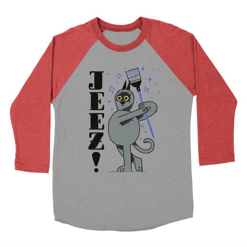 Jeez Men's Baseball Triblend T-Shirt by Burrito Goblin