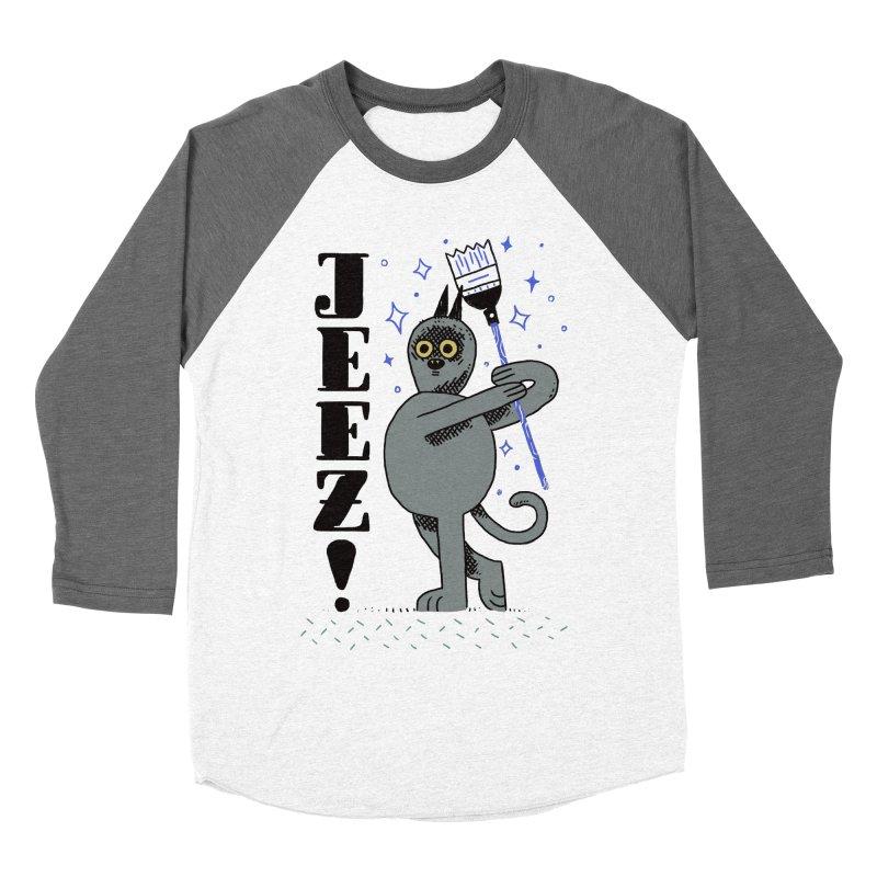 Jeez Men's Baseball Triblend Longsleeve T-Shirt by Burrito Goblin