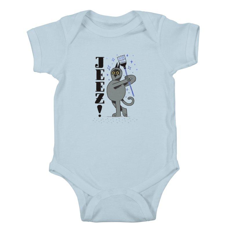 Jeez Kids Baby Bodysuit by Burrito Goblin
