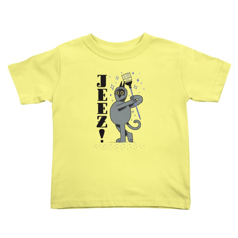Jeez Kids Toddler T-Shirt by Burrito Goblin