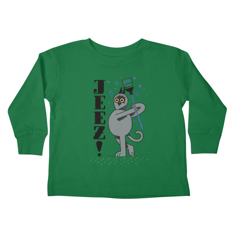 Jeez Kids Toddler Longsleeve T-Shirt by Burrito Goblin