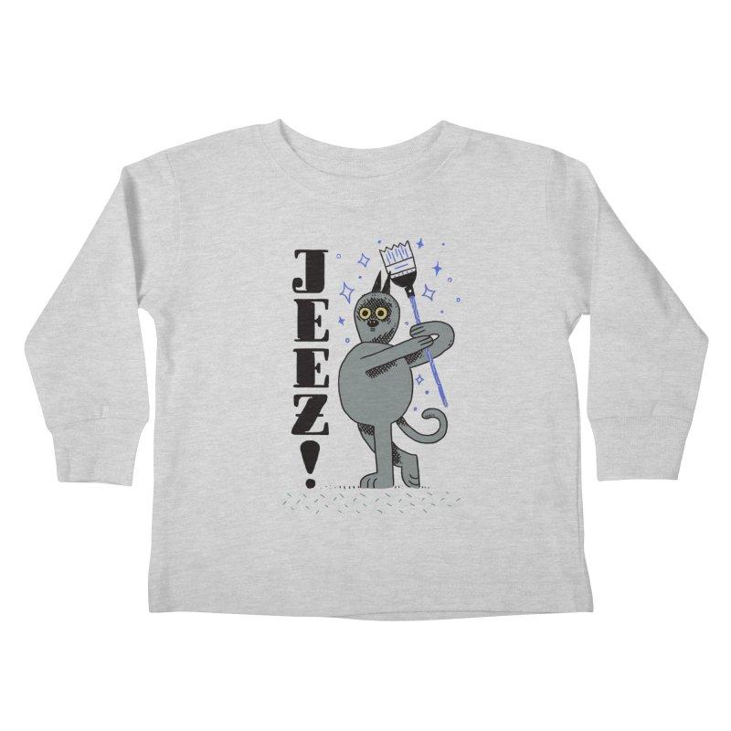Jeez Kids Toddler Longsleeve T-Shirt by Burrito Goblin