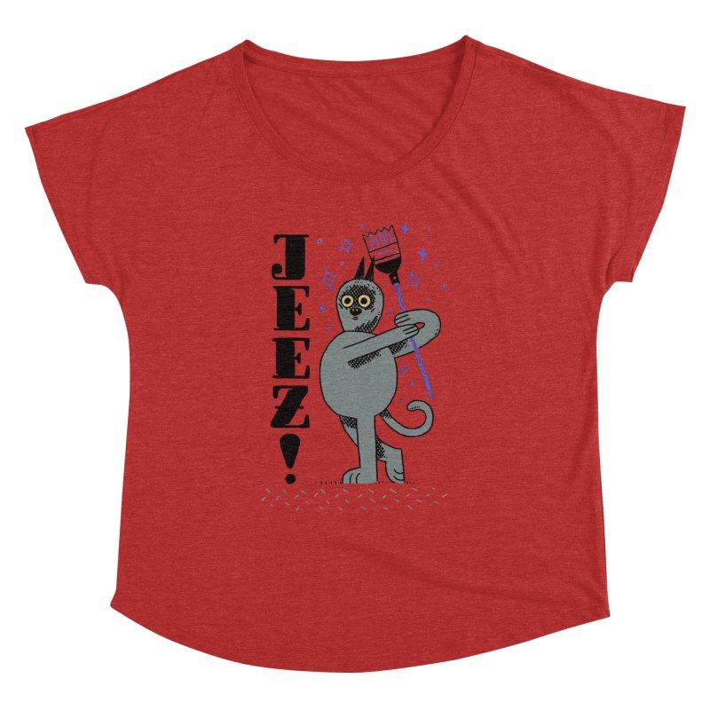 Jeez Women's Dolman Scoop Neck by Burrito Goblin