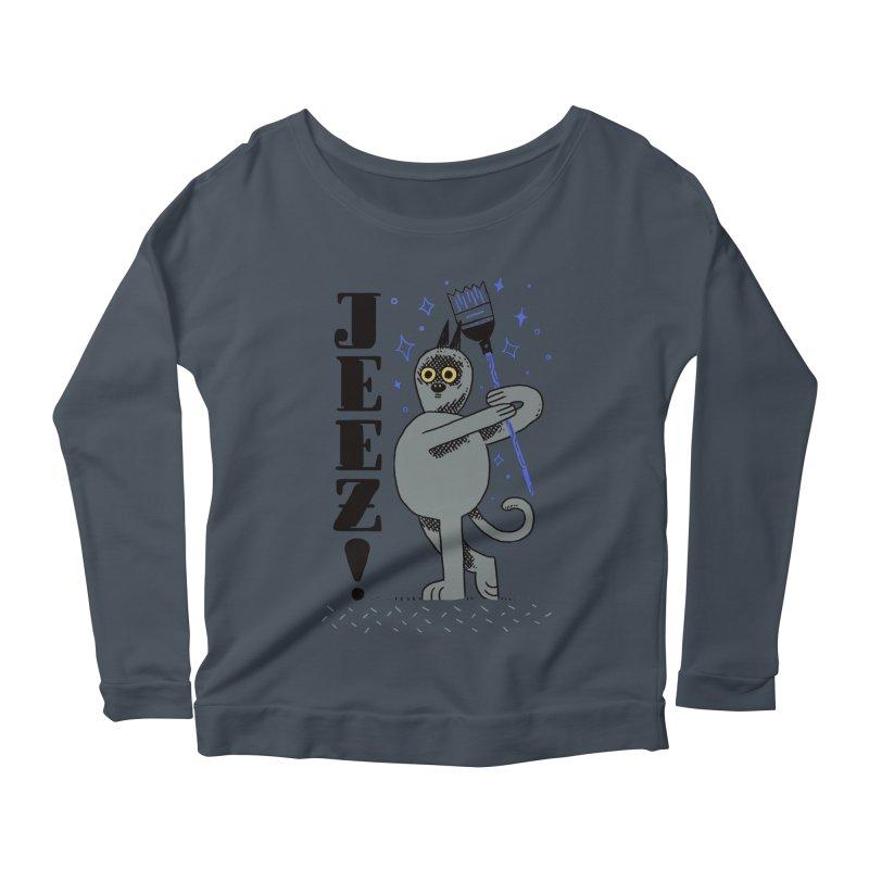 Jeez Women's Scoop Neck Longsleeve T-Shirt by Burrito Goblin