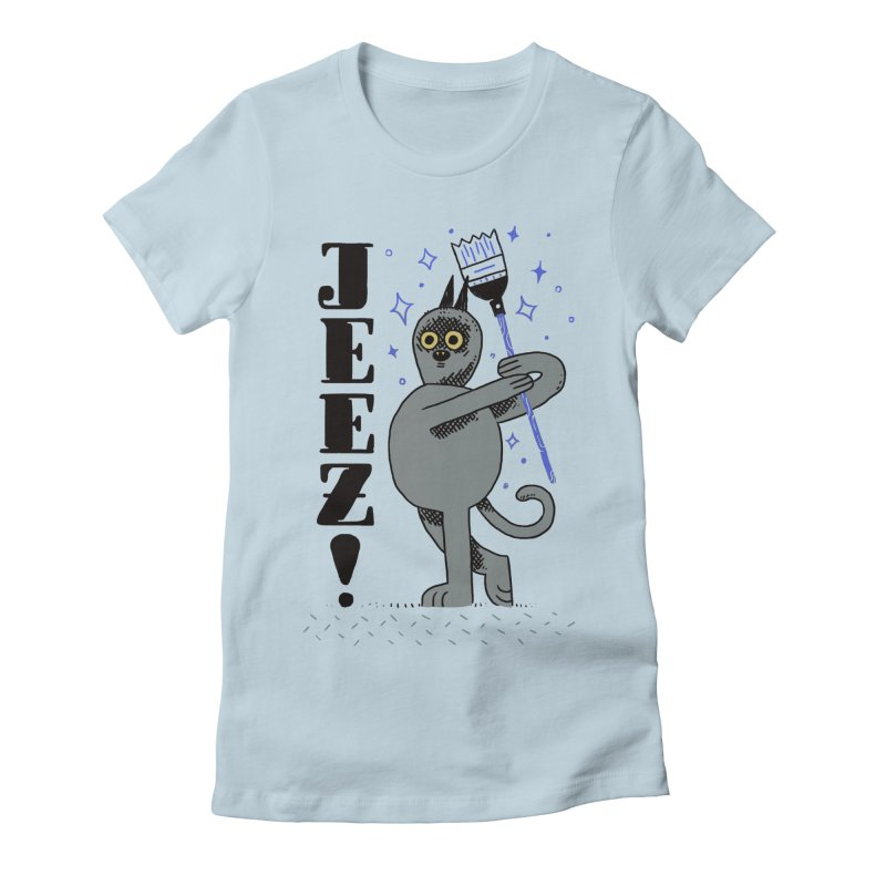 Jeez Women's Fitted T-Shirt by Burrito Goblin