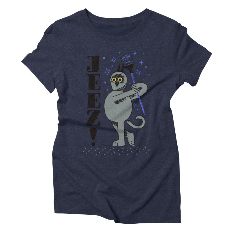 Jeez Women's Triblend T-shirt by Burrito Goblin
