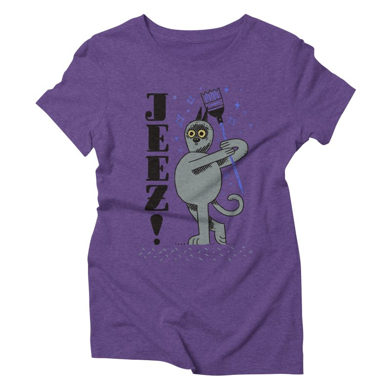 Jeez Women's Triblend T-Shirt by Burrito Goblin