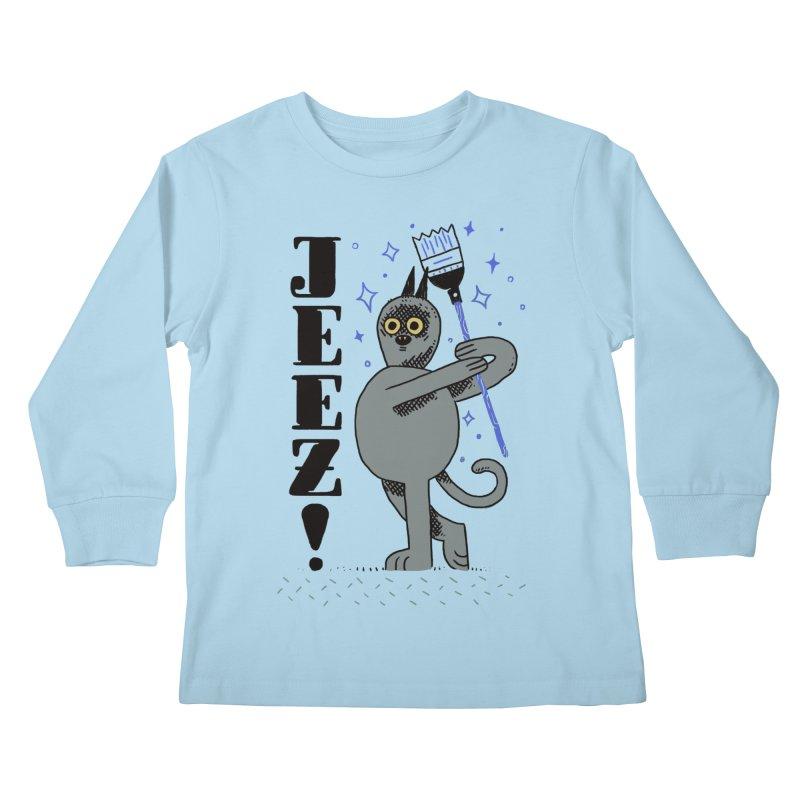 Jeez Kids Longsleeve T-Shirt by Burrito Goblin