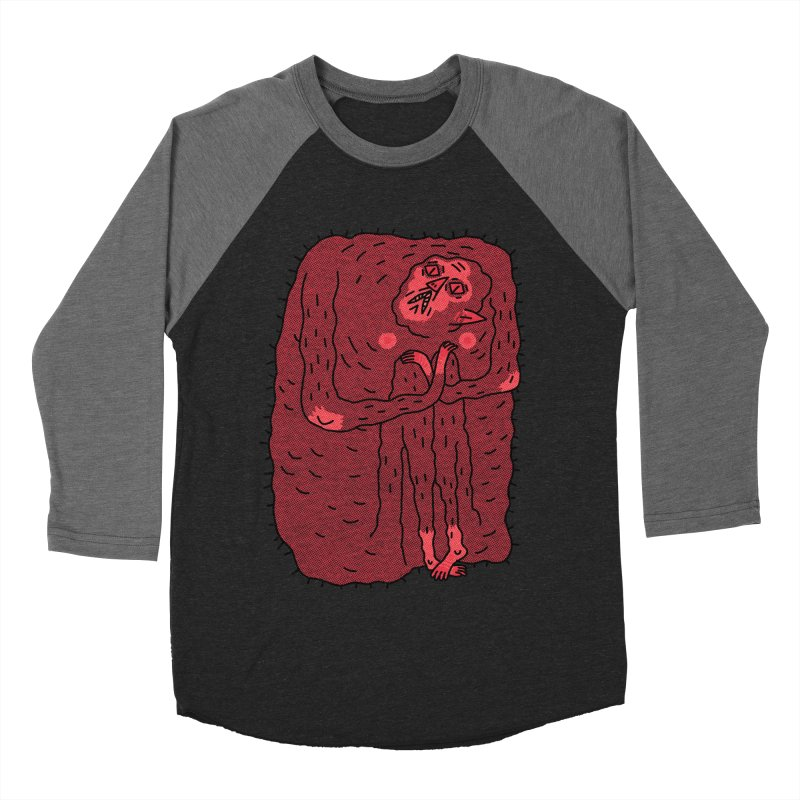 No Hugs Pls Men's Baseball Triblend T-Shirt by Burrito Goblin