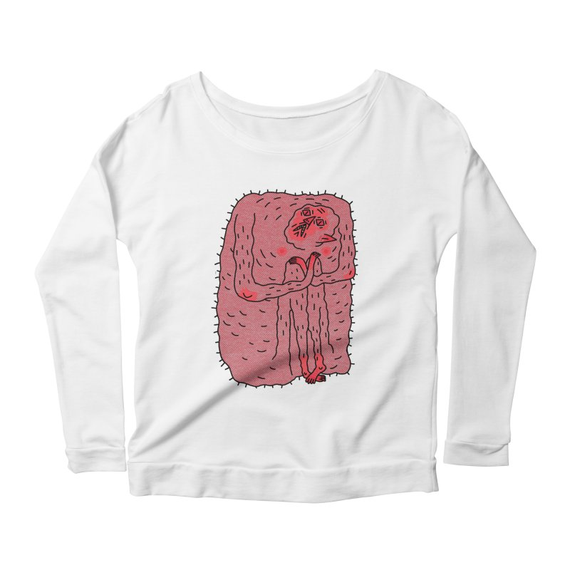 No Hugs Pls Women's Scoop Neck Longsleeve T-Shirt by Burrito Goblin